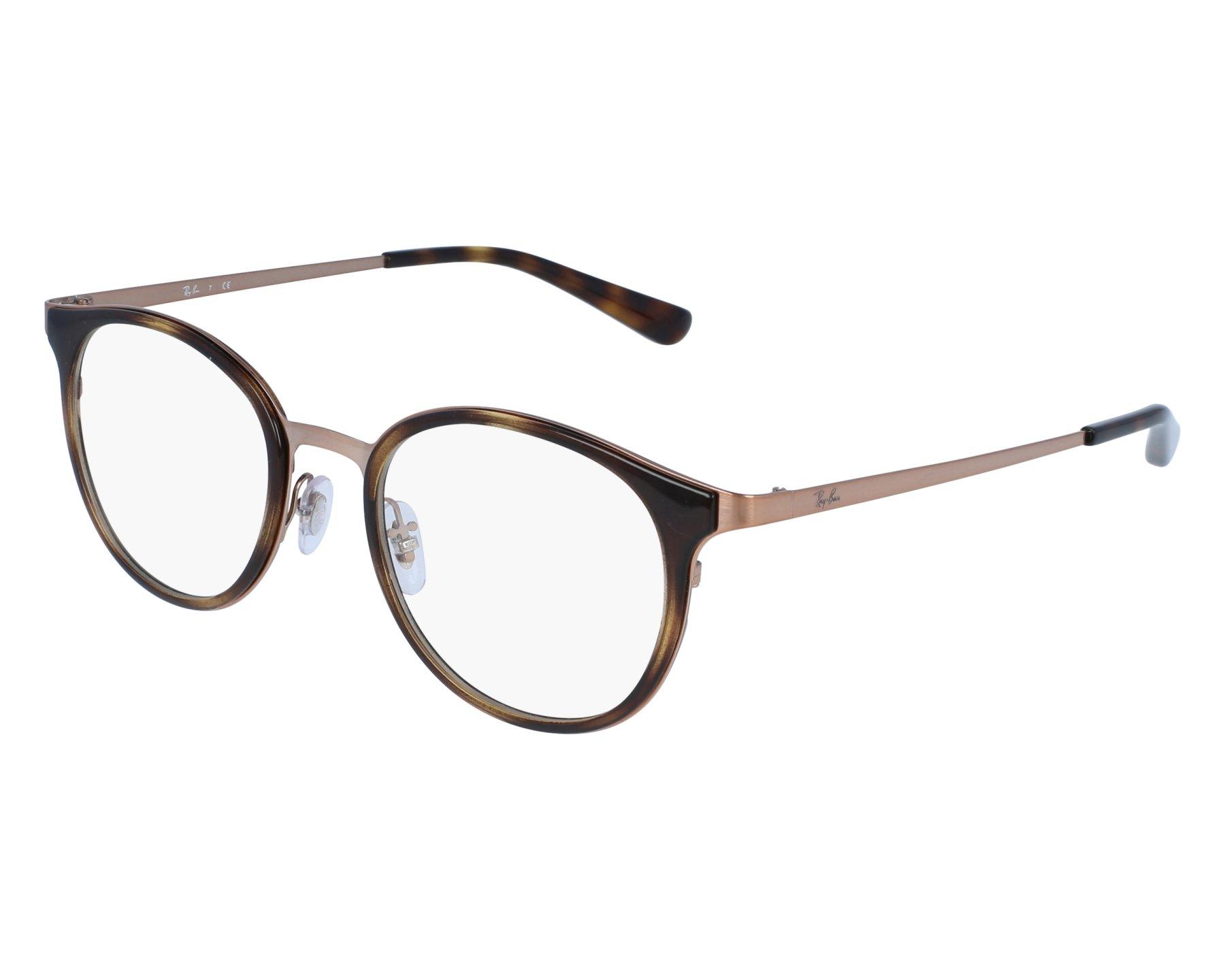 eyeglasses Ray-Ban RX-6372-M 2732 50-19 Bronze Havana front