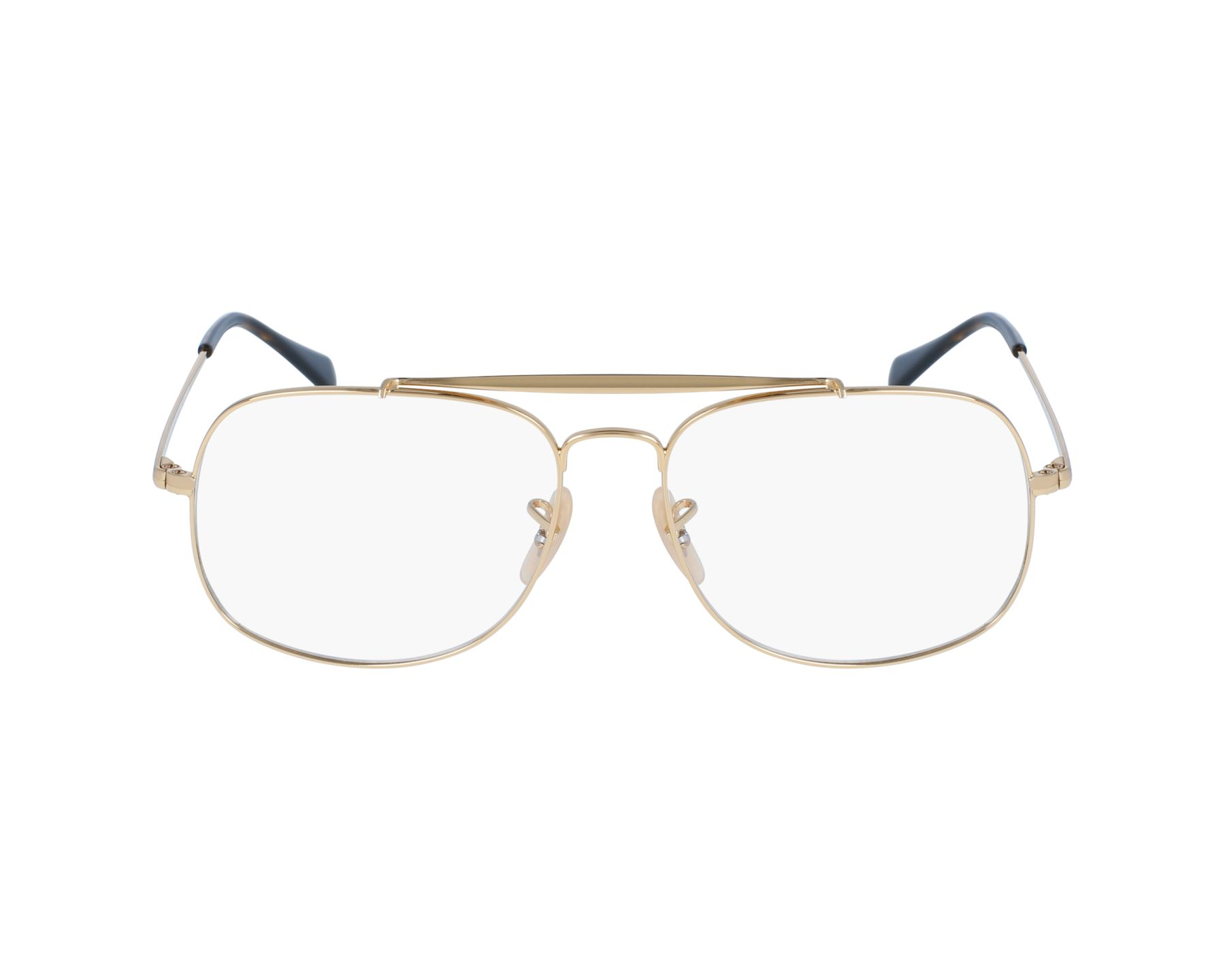 272cbbc3d6 eyeglasses Ray-Ban RX-6389 2500 57-16 Gold profile view