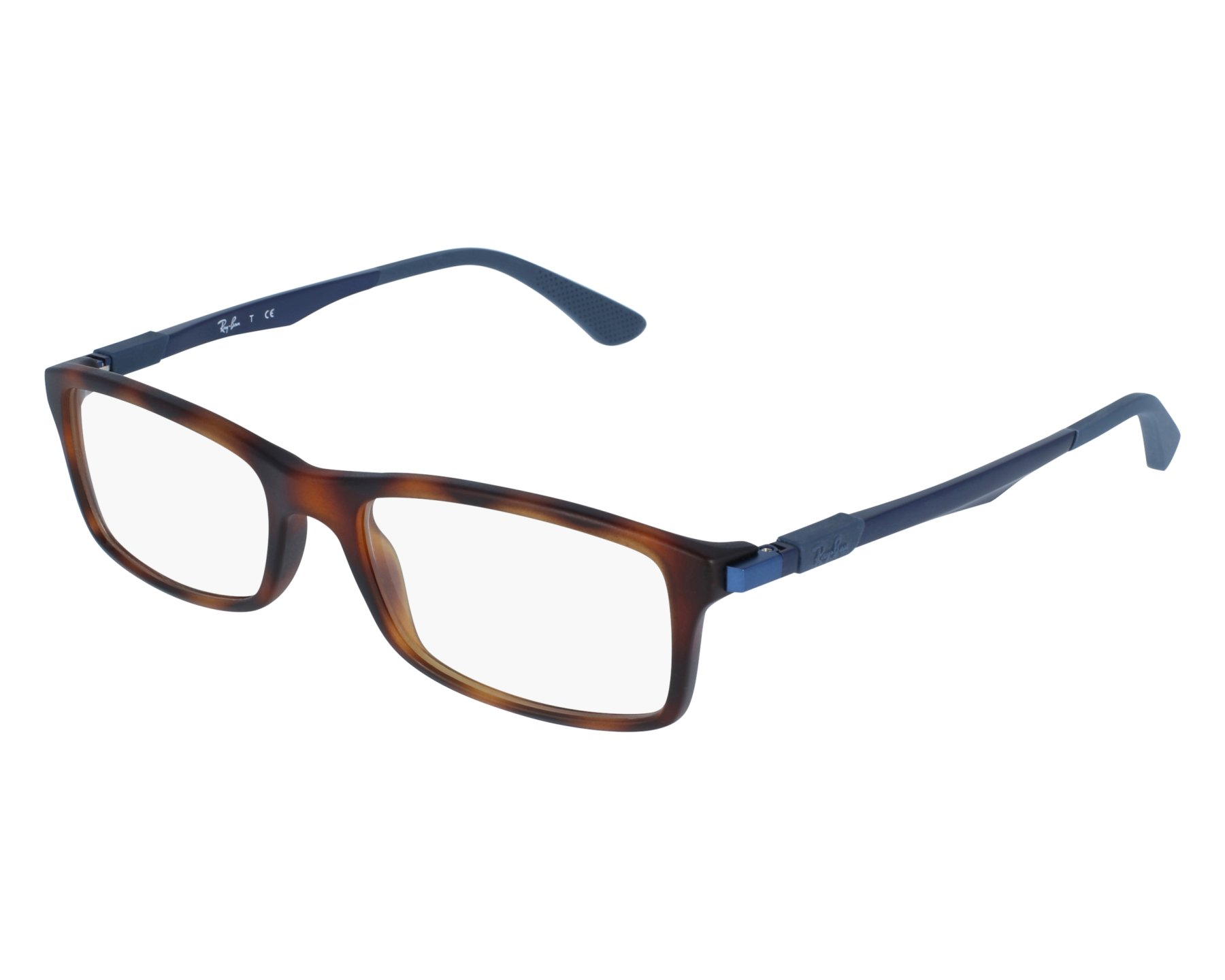 c8a70f9aa6 eyeglasses Ray-Ban RX-7017 5574 54-17 Havana Blue front view