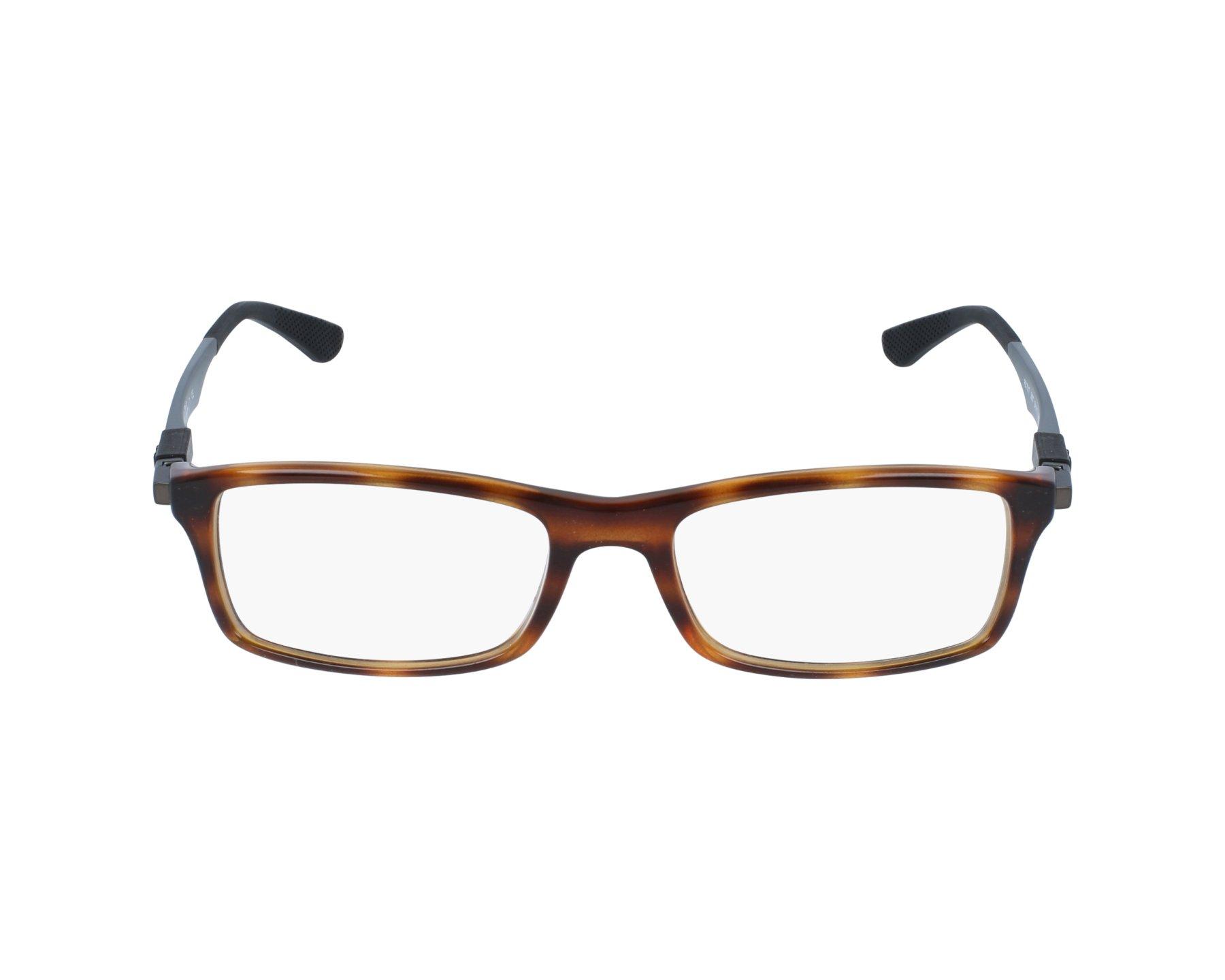 74cf40c692 eyeglasses Ray-Ban RX-7017 5687 54-17 Havana Blue profile view
