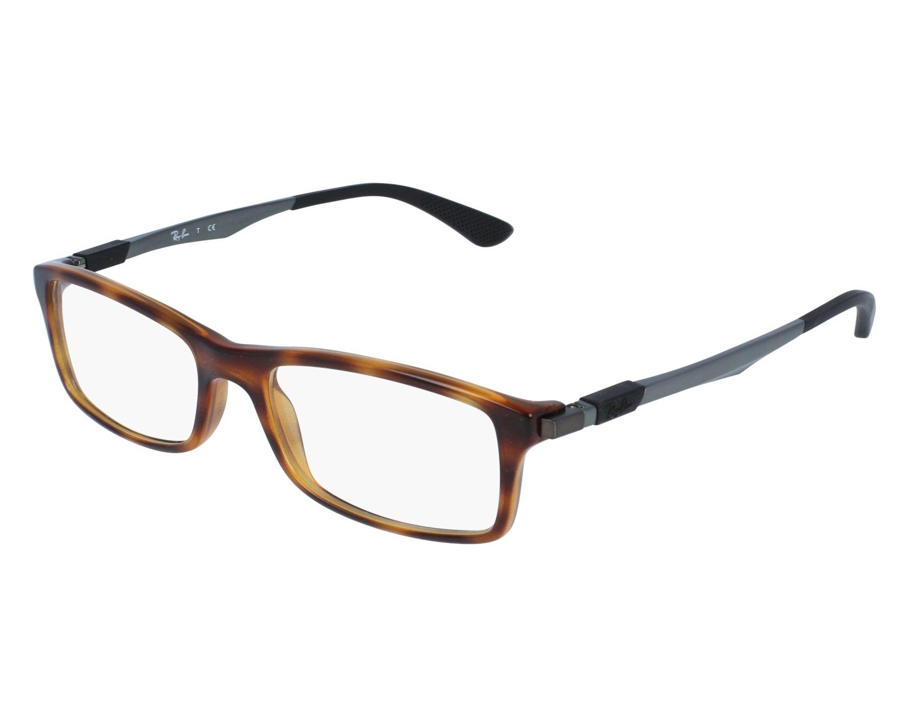 4689d9eb66 eyeglasses Ray-Ban RX-7017 5687 54-17 Havana Blue front view