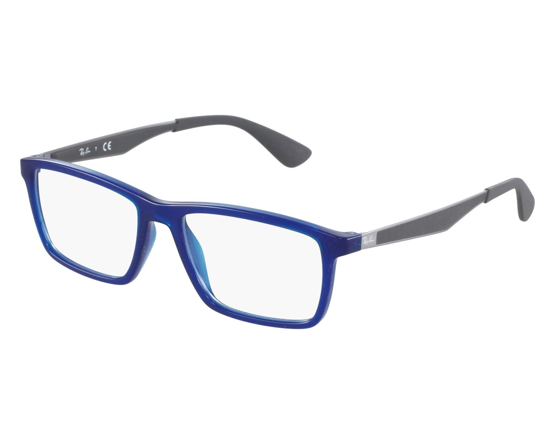 60890cb516 eyeglasses Ray-Ban RX-7056 5393 55-17 Blue Grey front view