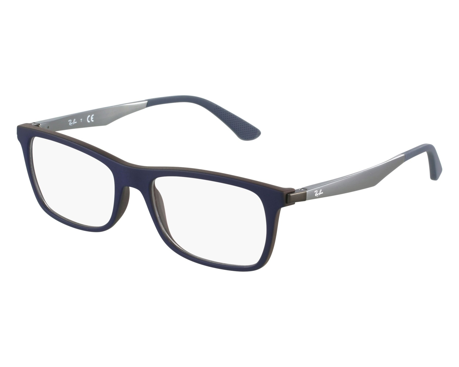 d03a3553cbc eyeglasses Ray-Ban RX-7062 5575 53-18 Blue Grey front view