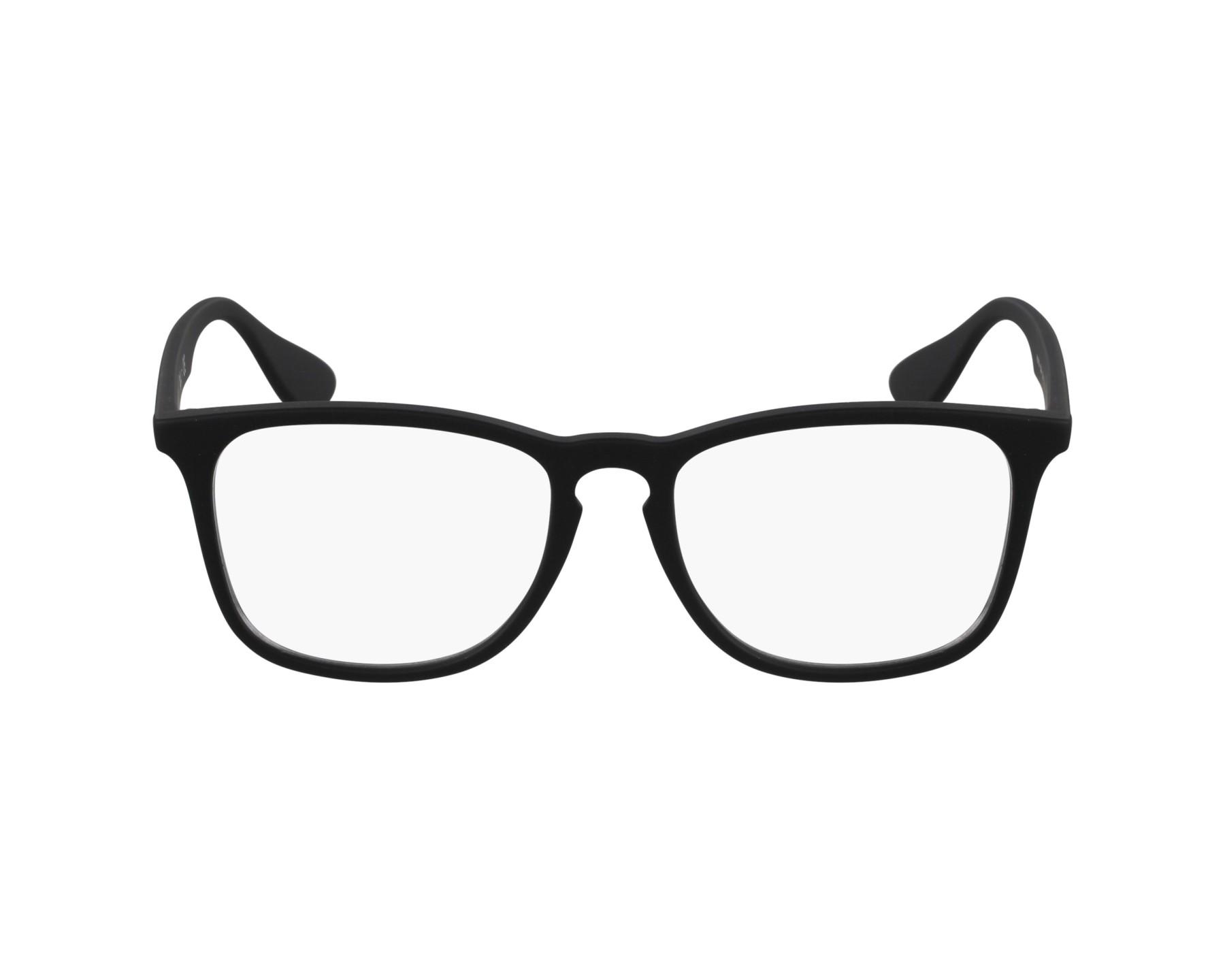 725cdbb00ac eyeglasses Ray-Ban RX-7074 5364 52-18 Black profile view