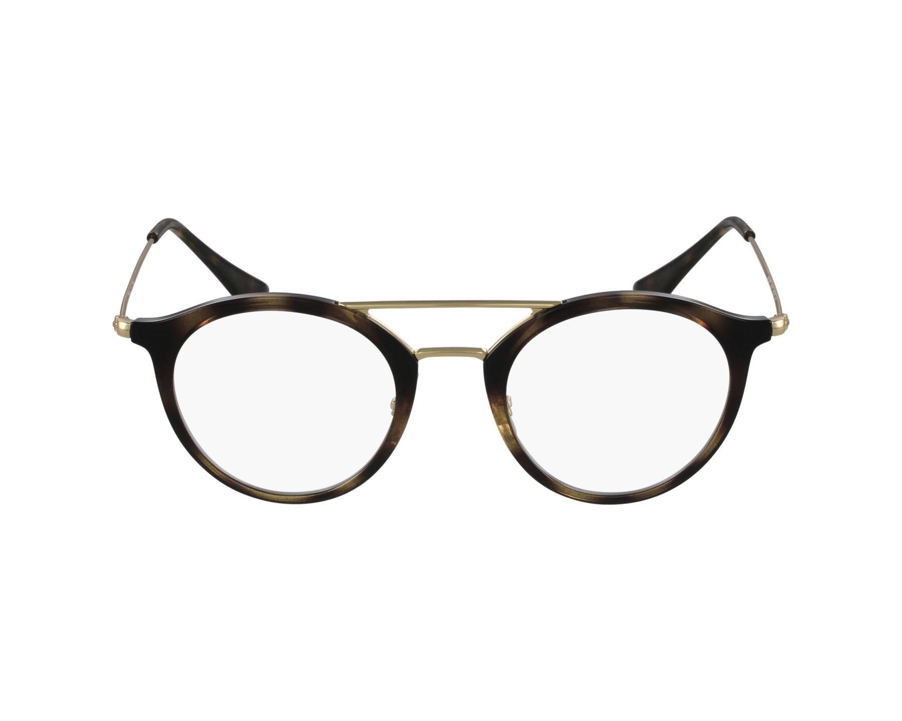 03e37dfae4a eyeglasses Ray-Ban RX-7097 2012 47-21 Havana Gold profile view