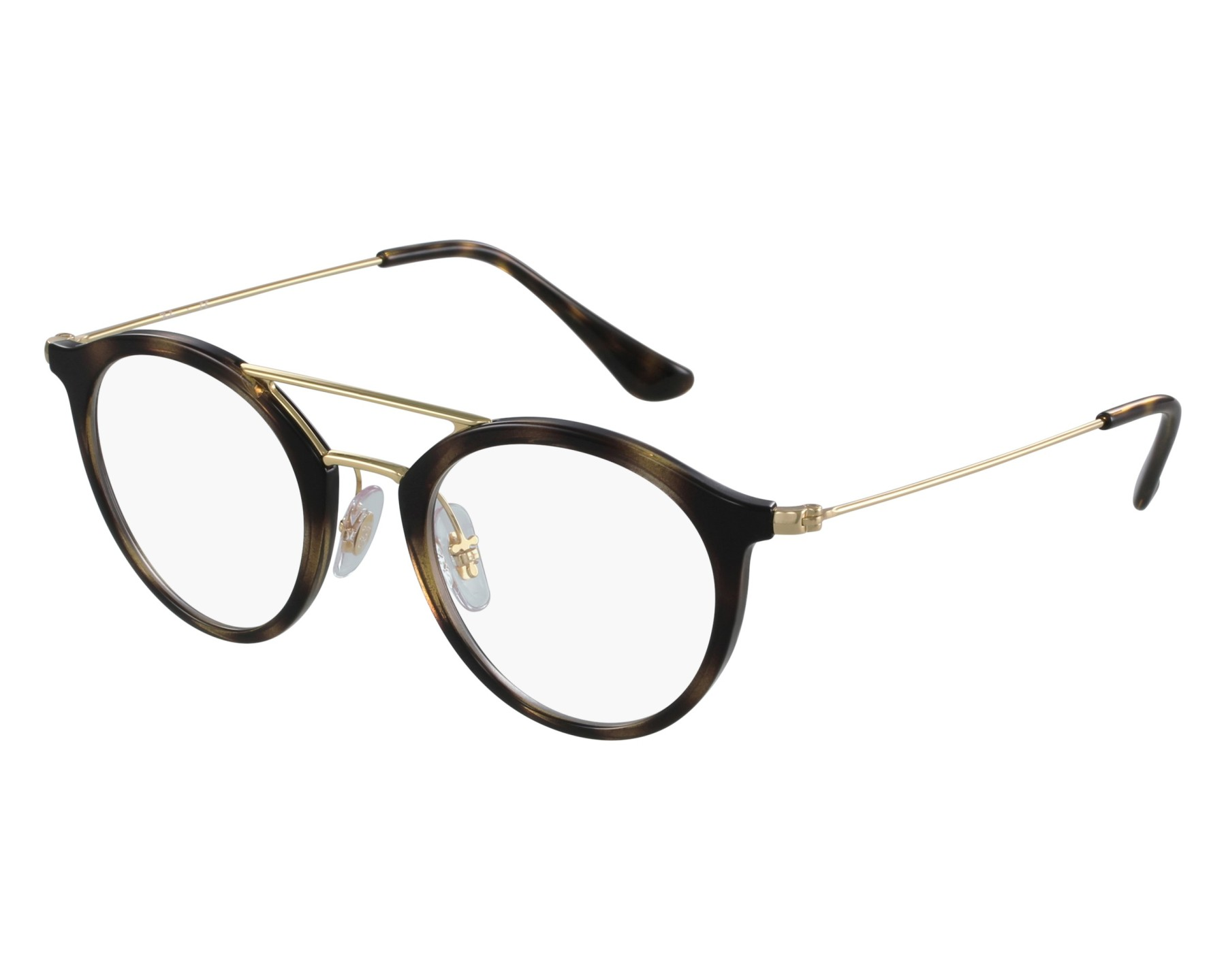 bedef8ebf6c eyeglasses Ray-Ban RX-7097 2012 47-21 Havana Gold front view