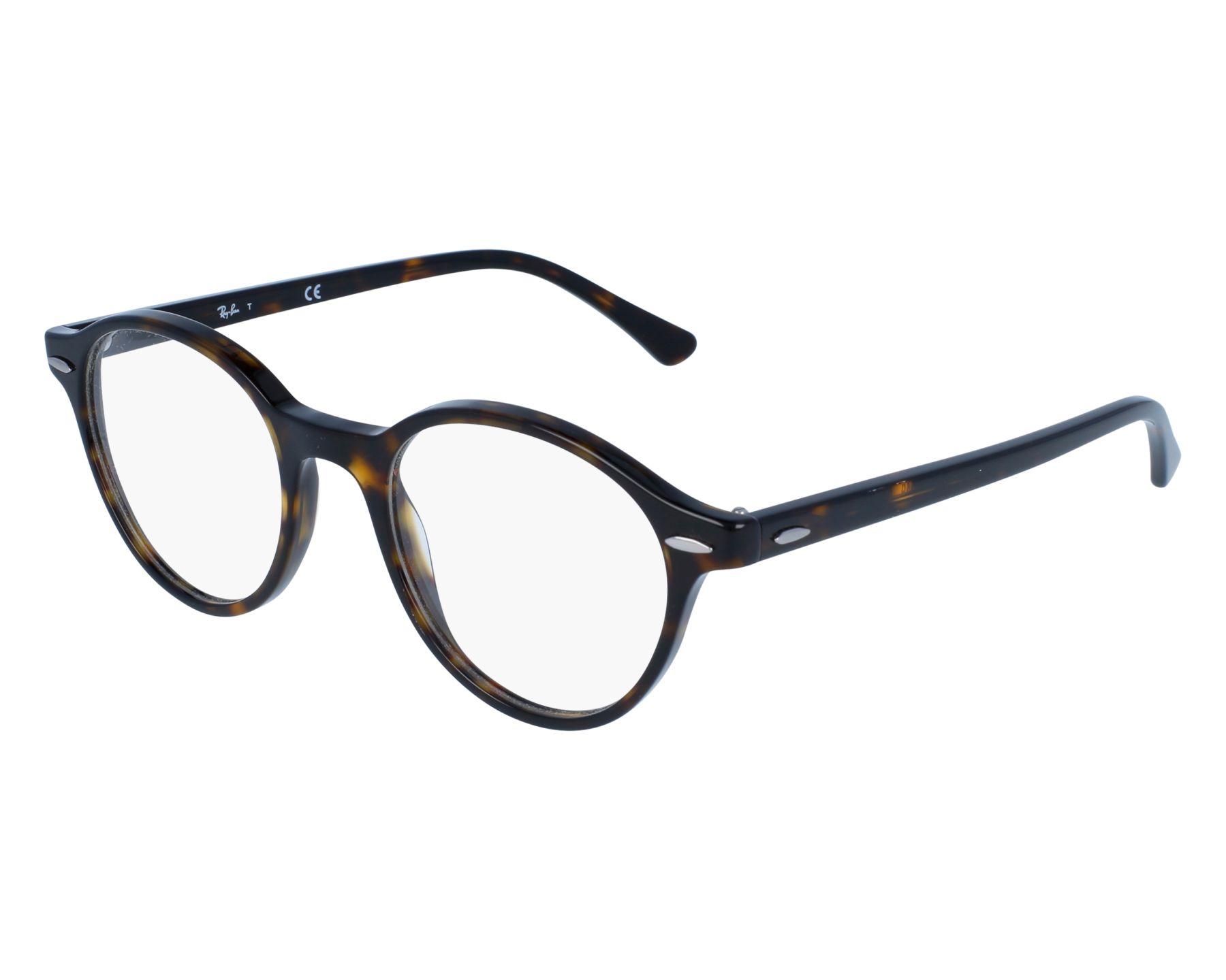 7a3c623fa3e eyeglasses Ray-Ban RX-7118 2012 48-19 Havana front view