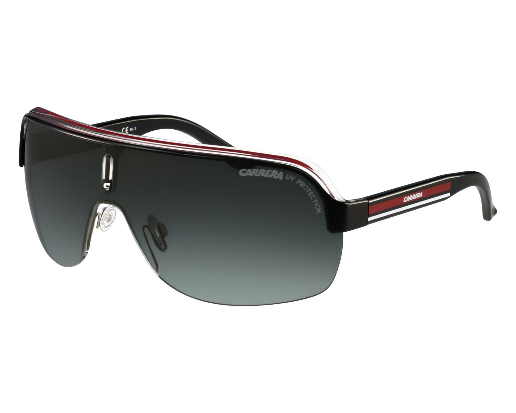 ef0853f871801 Sunglasses Carrera Topcar-1 KB0 PT - Red Crystal front view