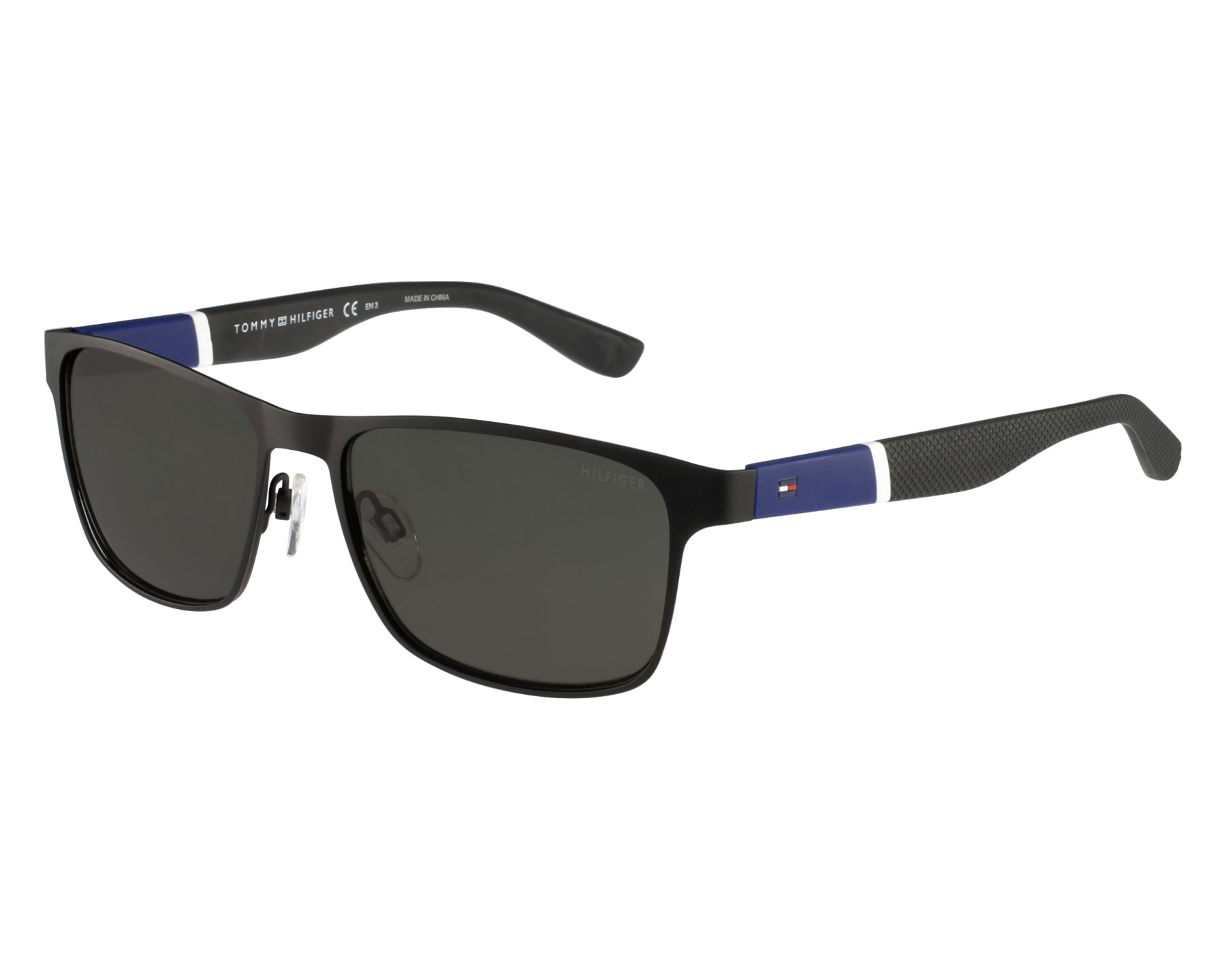 3d01080cf3 Sunglasses Tommy Hilfiger TH-1283-S FO3 NR - Black Blue front view