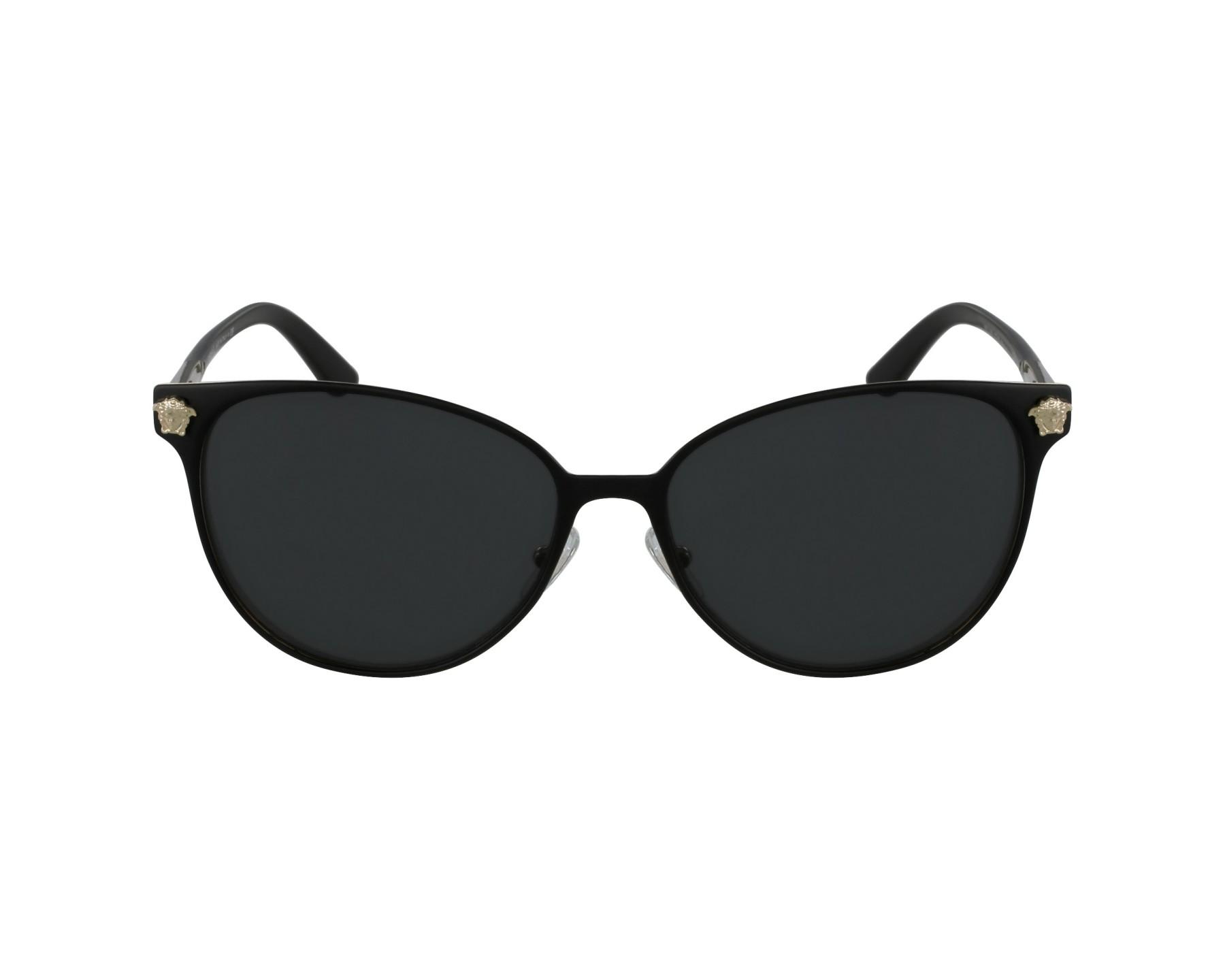 3d414587745 Sunglasses Versace VE-2168 1377 87 57-16 Black Gold profile view