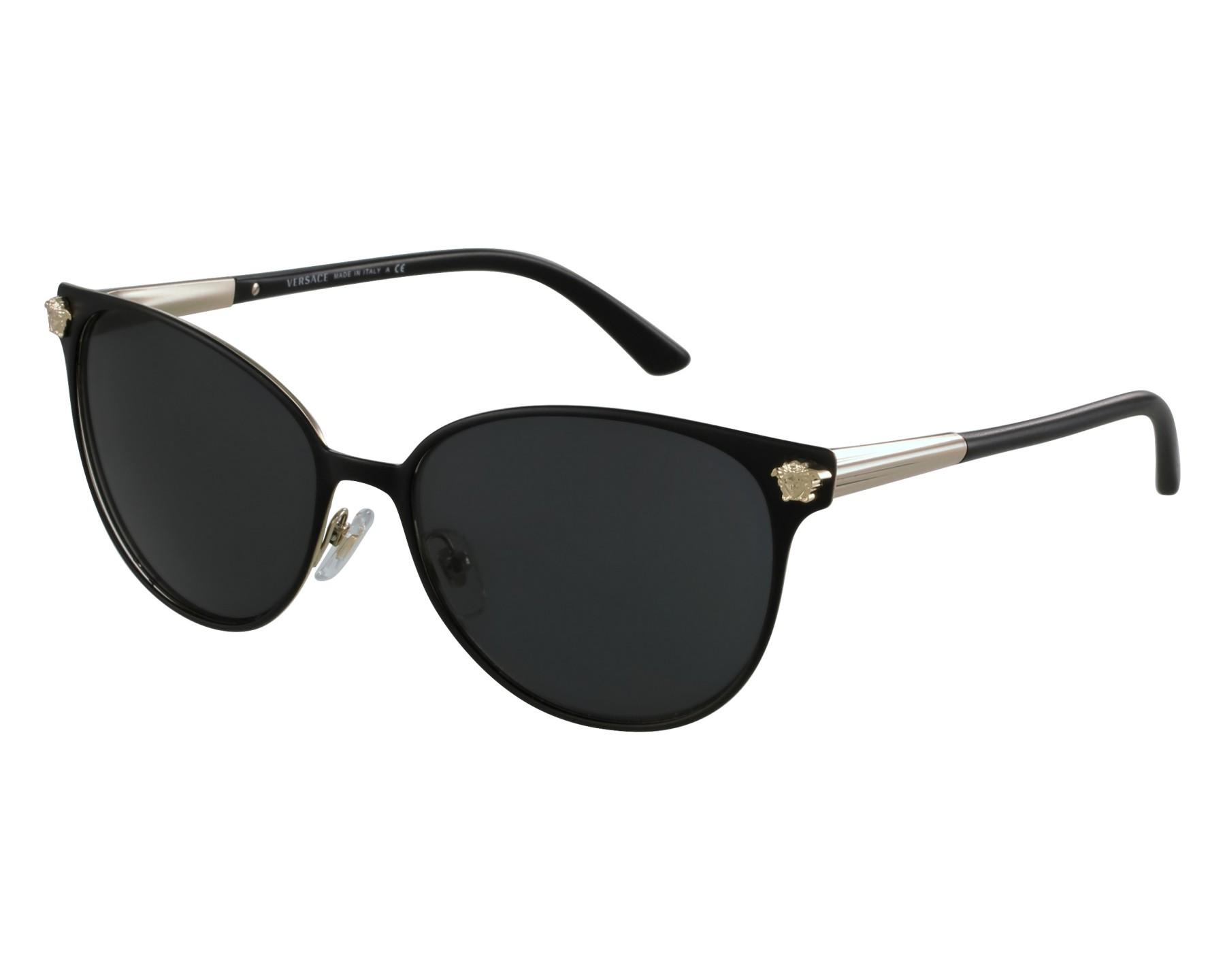 ea01eb43b54 Sunglasses Versace VE-2168 1377 87 57-16 Black Gold front view