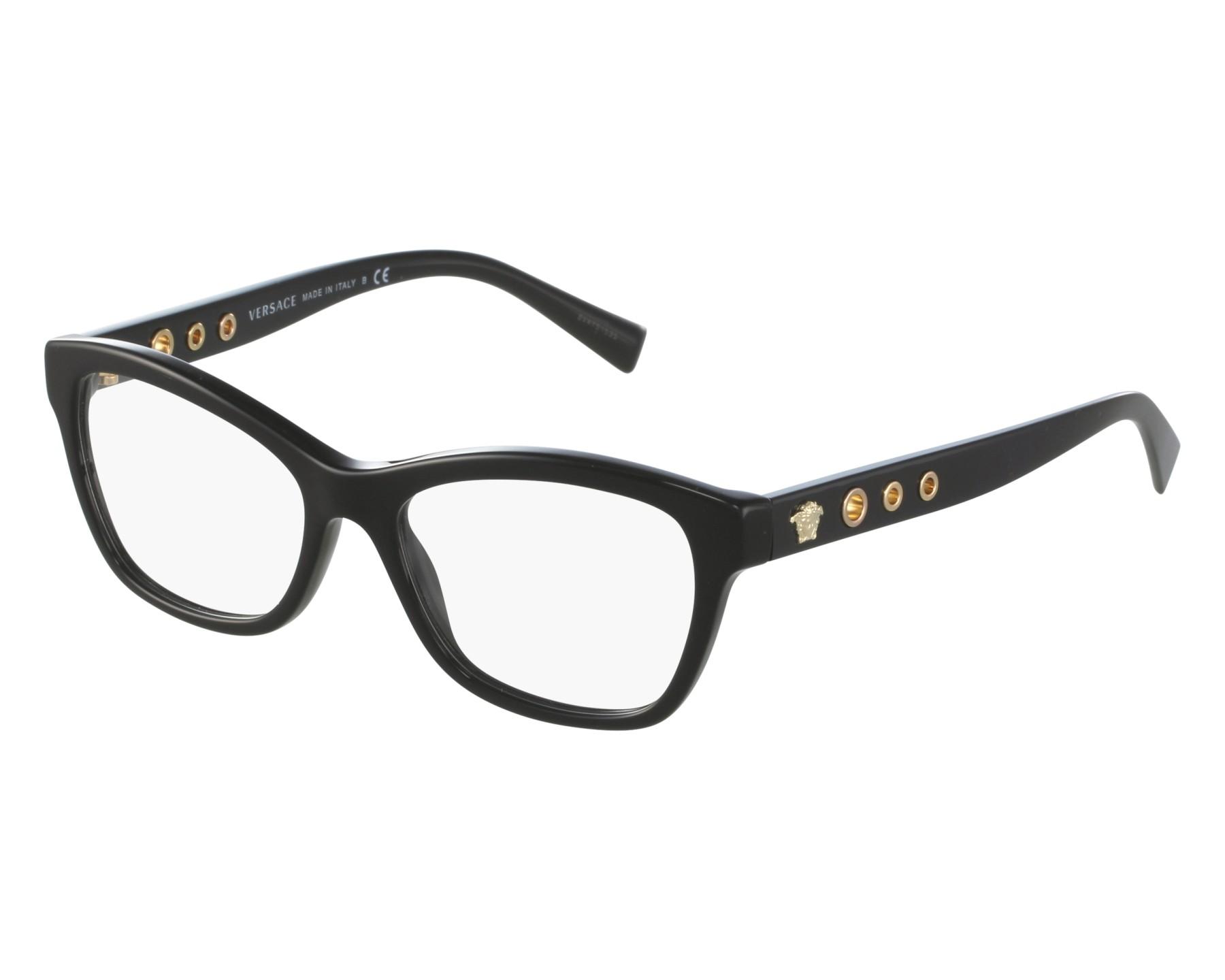 9b83f6bbad8 eyeglasses Versace VE-3225 GB1 - Black front view