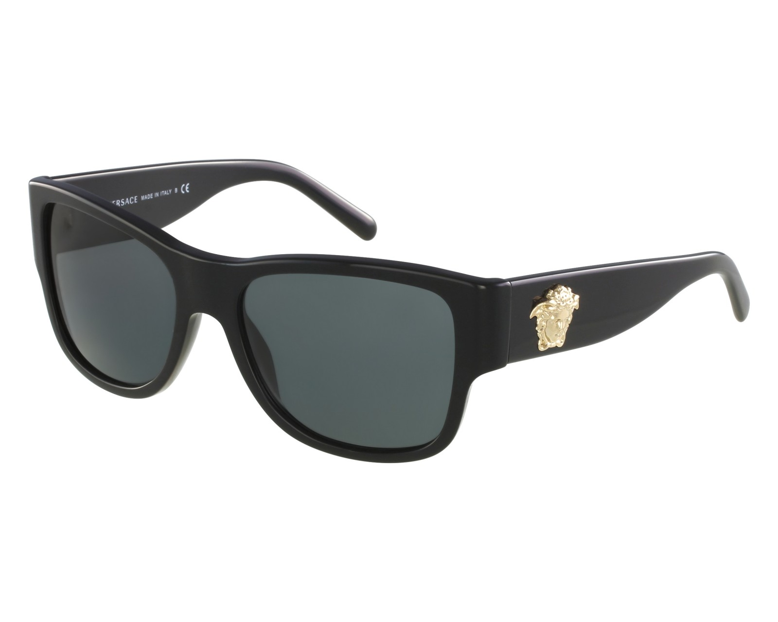 2faf08ed98c Sunglasses Versace VE-4275 GB1 87 58-18 Black Gold front view