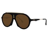 Unisex Flag IR 003 Sunglasses, Matte Black/Grey Bluee, 57 Carrera