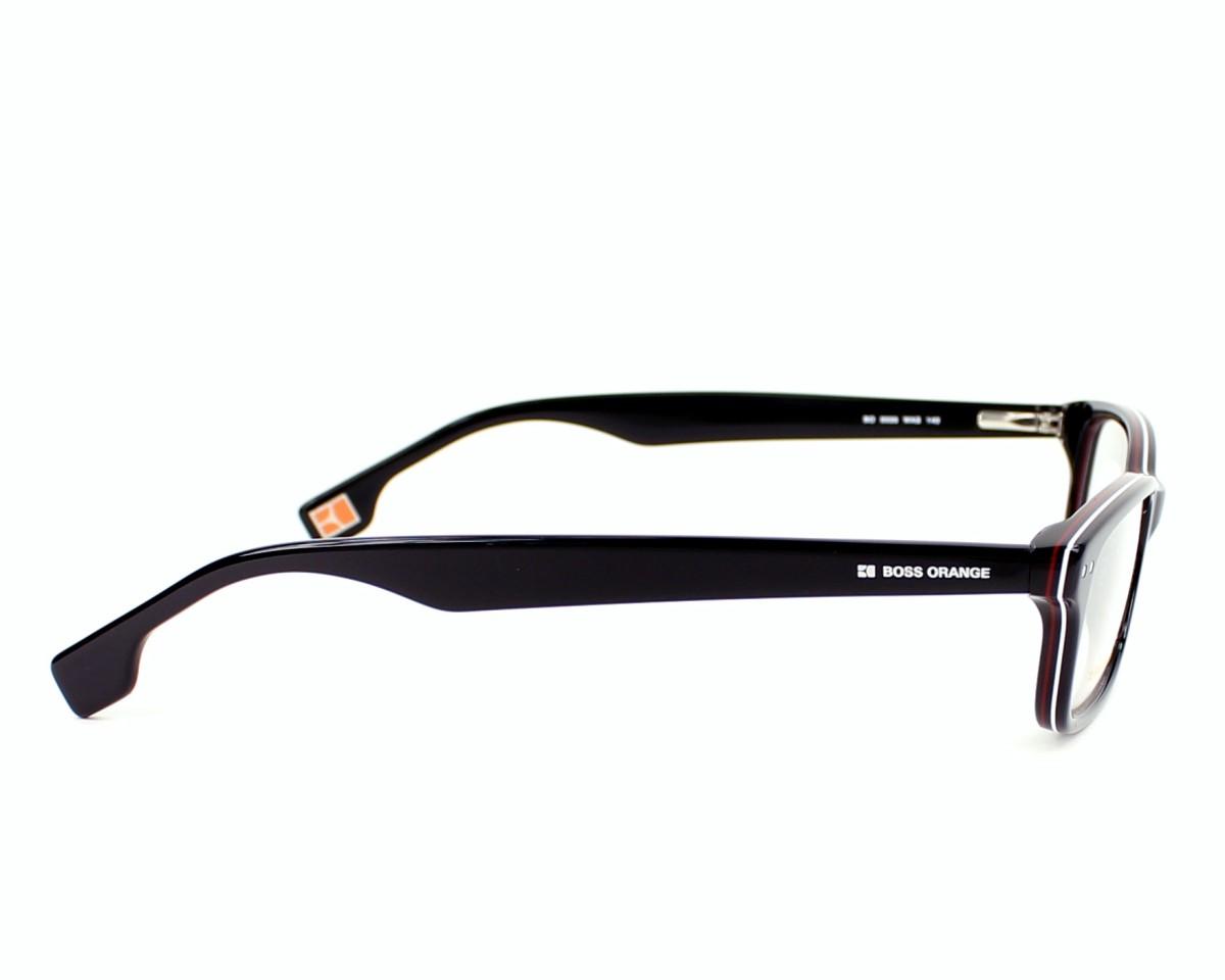 7328d5ba86a eyeglasses Boss Orange BO-0035 WAS - Black Red side view