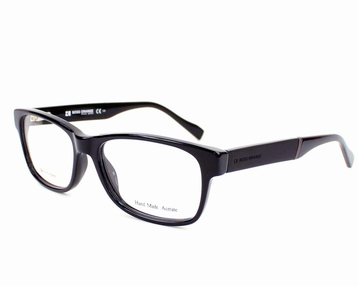 3dbe8a9e3d eyeglasses Boss Orange BO-0084 6EC 52-16 Black profile view