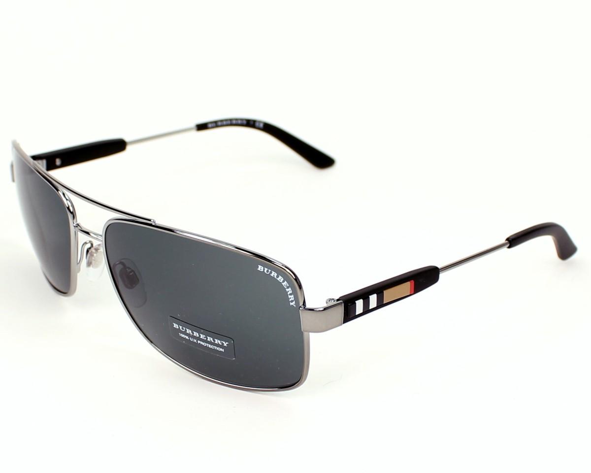 658cee823dc7 Sunglasses Burberry BE-3074 100387 63-15 Gun Black profile view