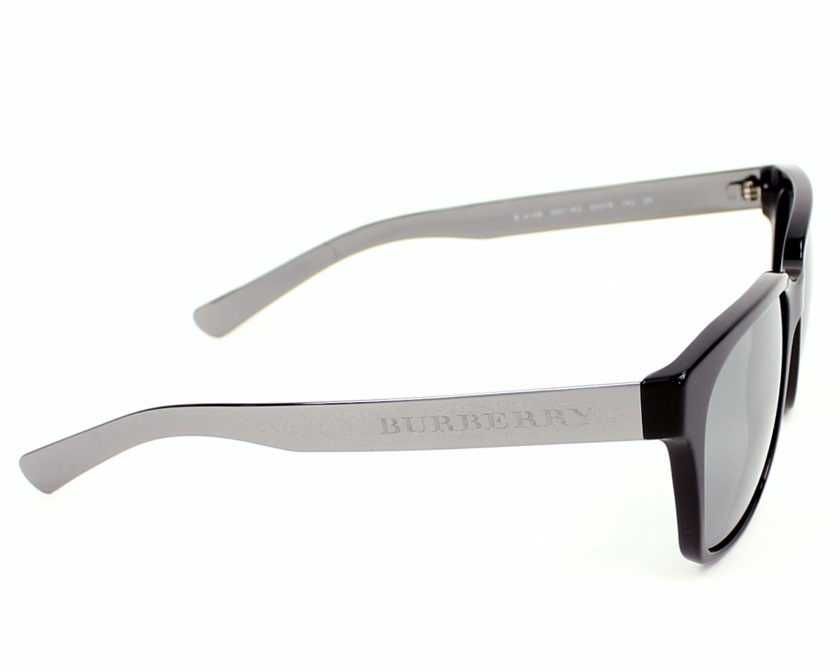 4fe8a976f95 Sunglasses Burberry BE-4148 3001 6G - Black Silver side view