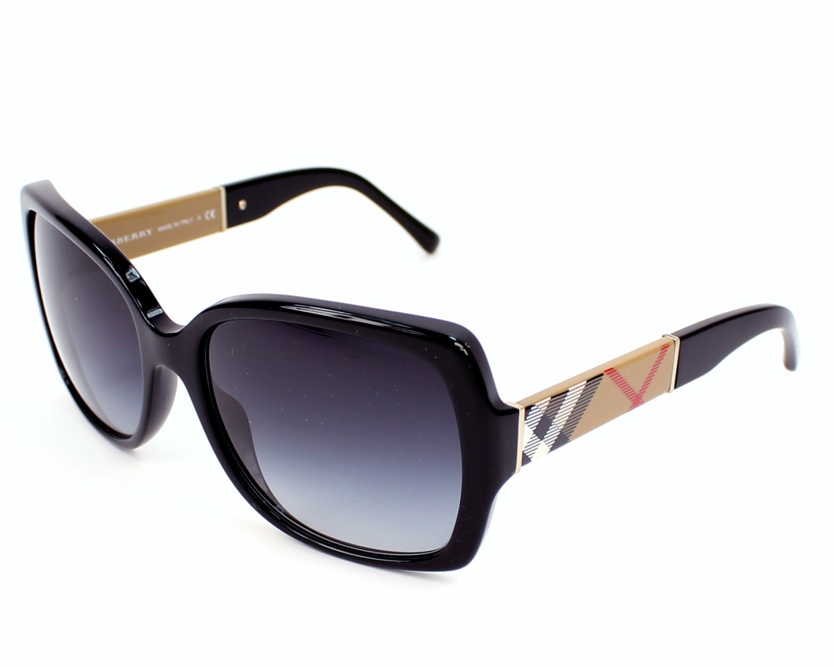 b19c31eef561 Sunglasses Burberry BE-4160 3433 8G 58-17 Black Check profile view