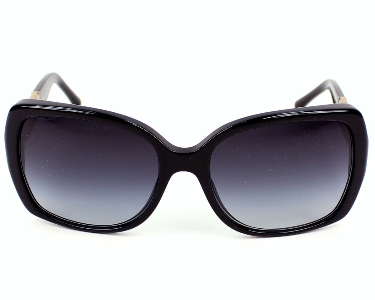 6aa577bf97d2 Sunglasses Burberry BE-4160 3433 8G 58-17 Black Check front view