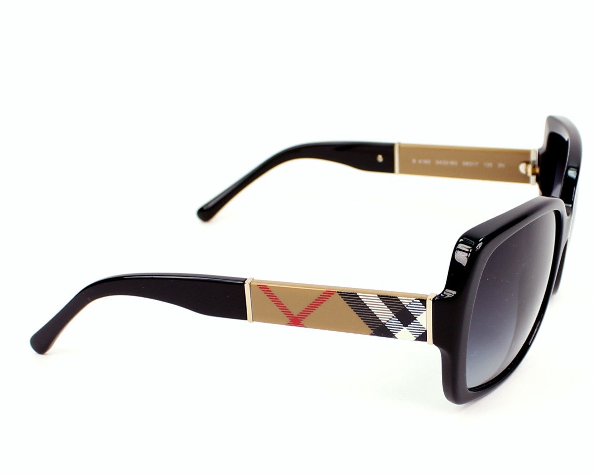 97563fa9b783 Sunglasses Burberry BE-4160 3433 8G 58-17 Black Check side view