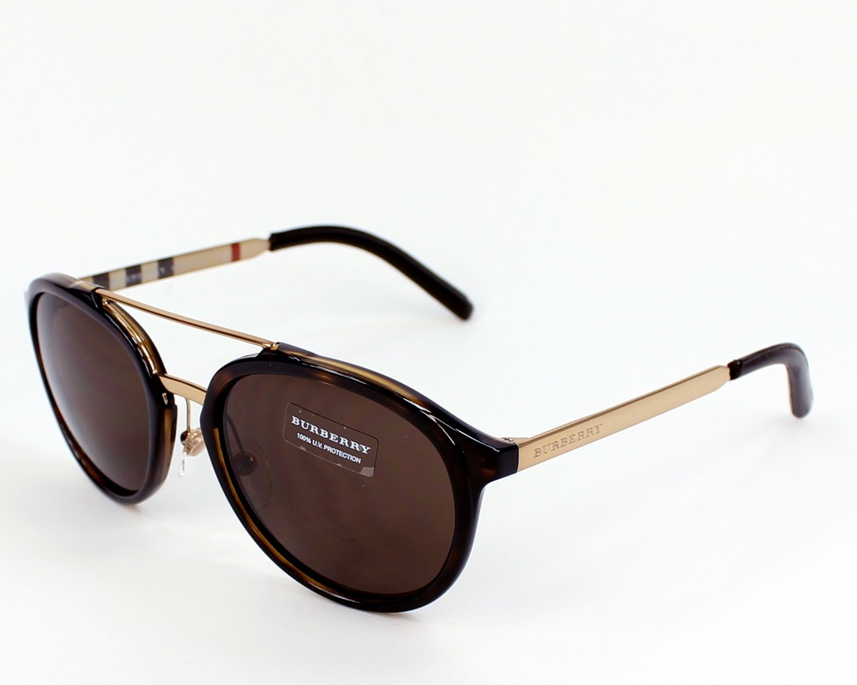e296b3894bc9 Sunglasses Burberry BE-4168-Q 300273 - Brown Gold profile view