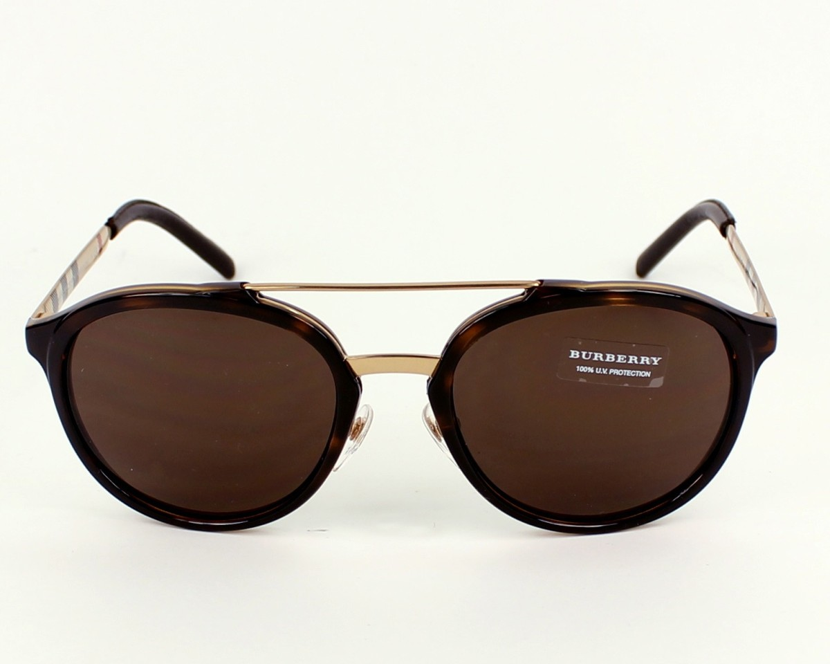 42b0c804faf6 Sunglasses Burberry BE-4168-Q 300273 - Brown Gold front view