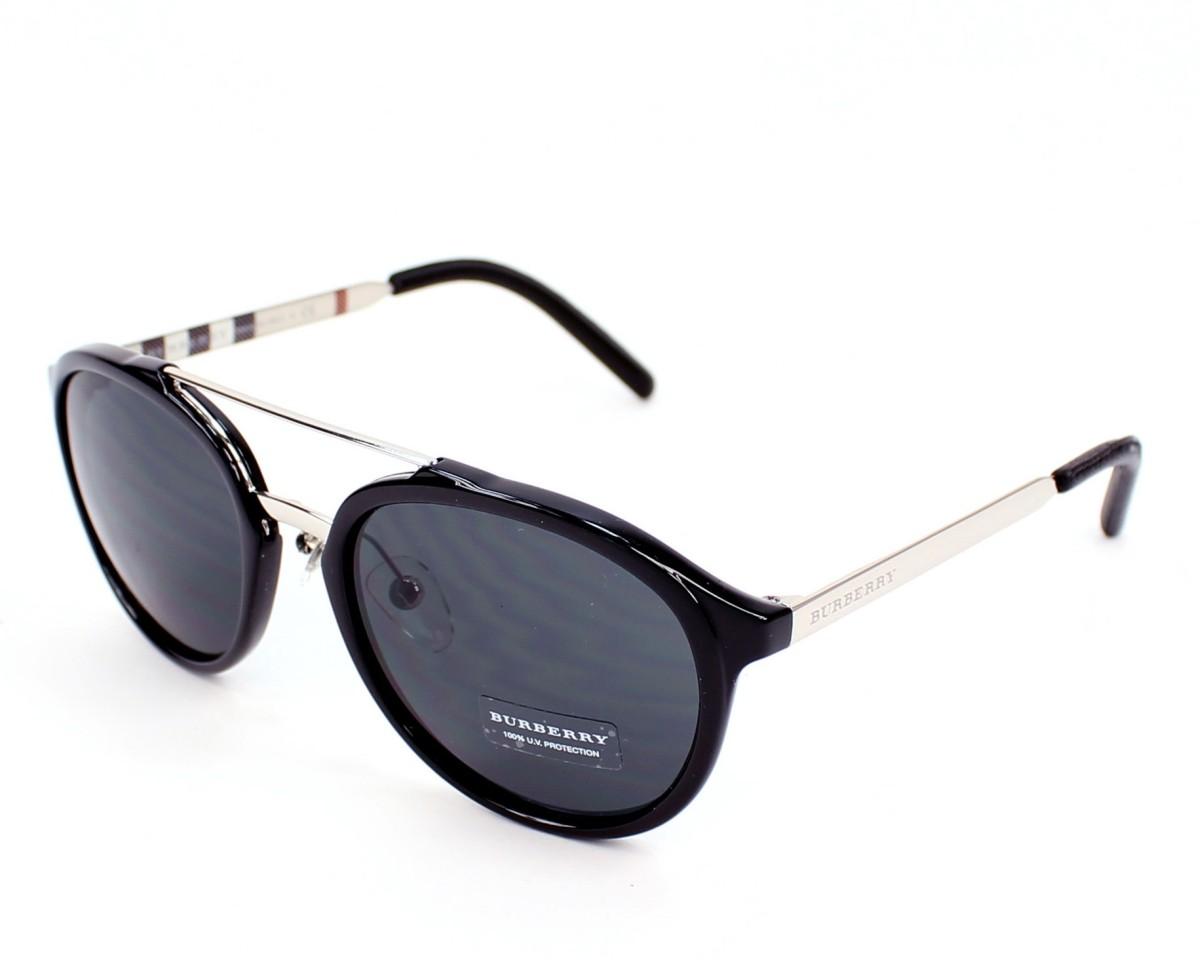 898fb4301c Sunglasses Burberry BE-4168-Q 342887 - Black Silver profile view