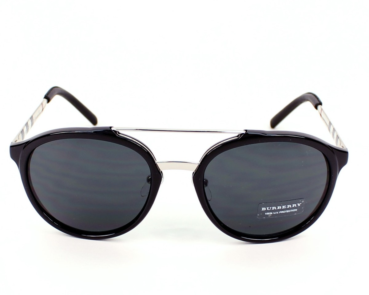 479c4bc94f Sunglasses Burberry BE-4168-Q 342887 - Black Silver front view