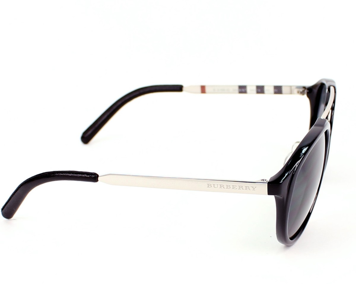 349a117785 Sunglasses Burberry BE-4168-Q 342887 - Black Silver side view