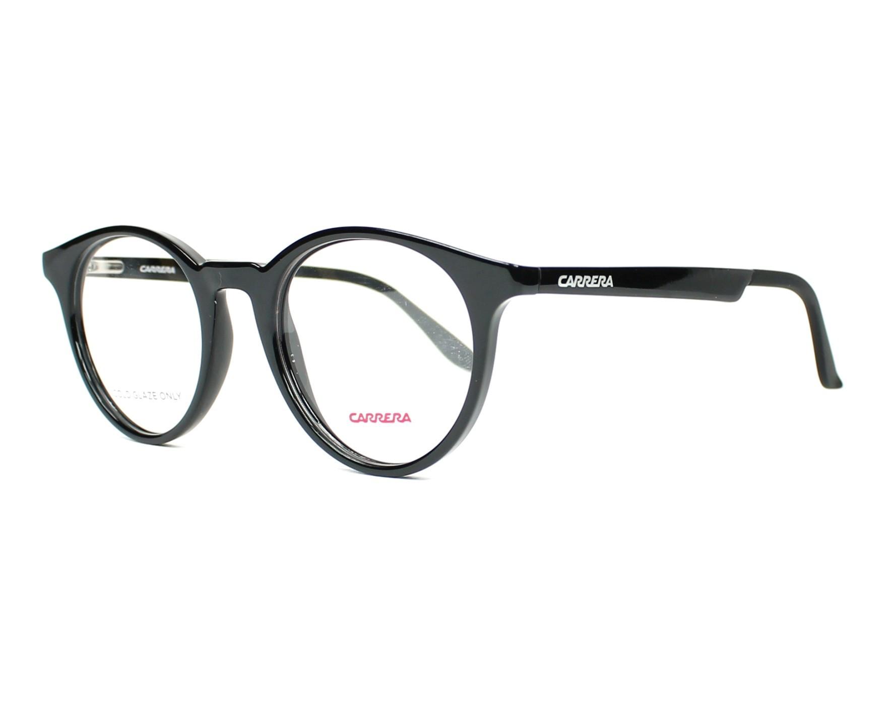 00471adc0a6 eyeglasses Carrera CA-5544 D28 48-20 Black profile view