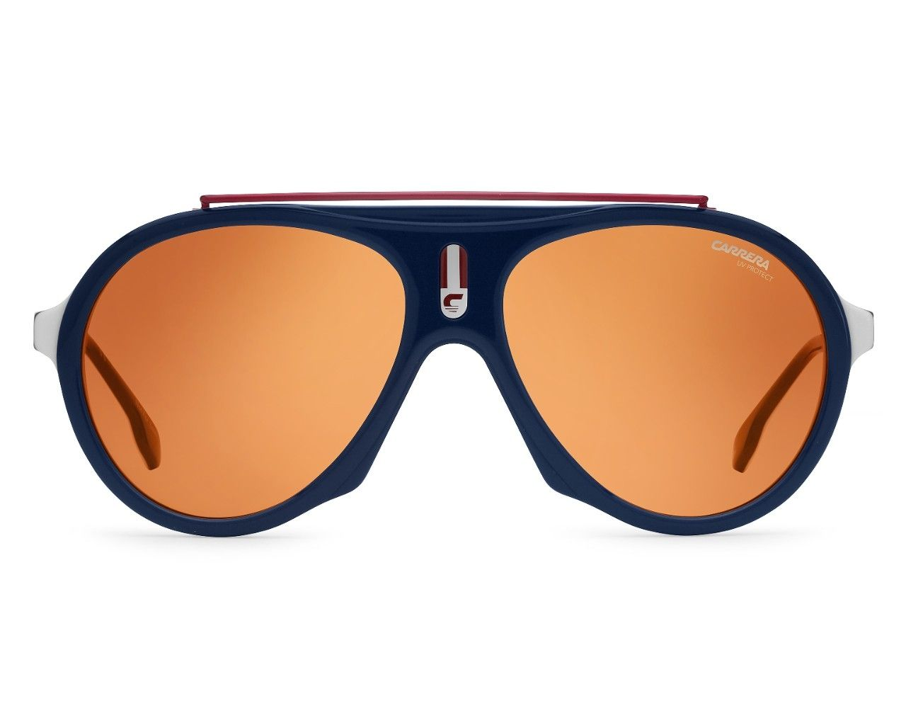 930df22dba thumbnail Sunglasses Carrera CARRERA-FLAG 8RU W7 57-16 Blue Bordeaux  profile view