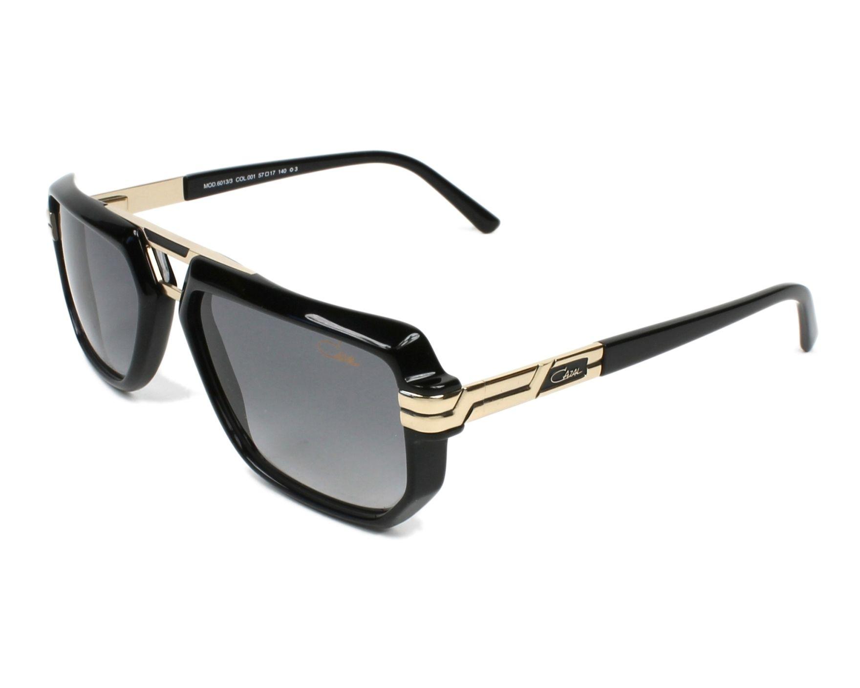 385813cfb06 Sunglasses Cazal 6013-3 001 57-17 Black Gold profile view