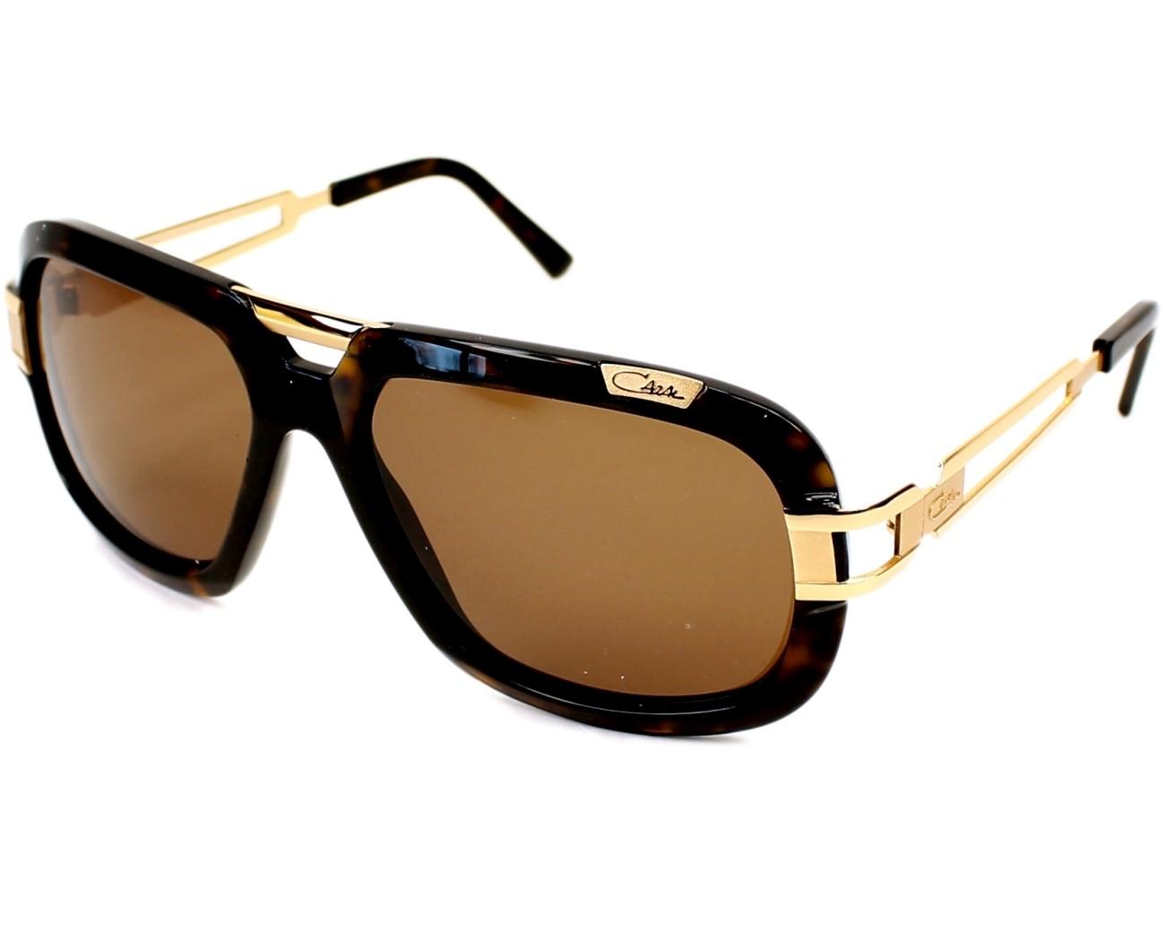 Sunglasses Cazal 8015 003 59-17 Havana Gold profile view