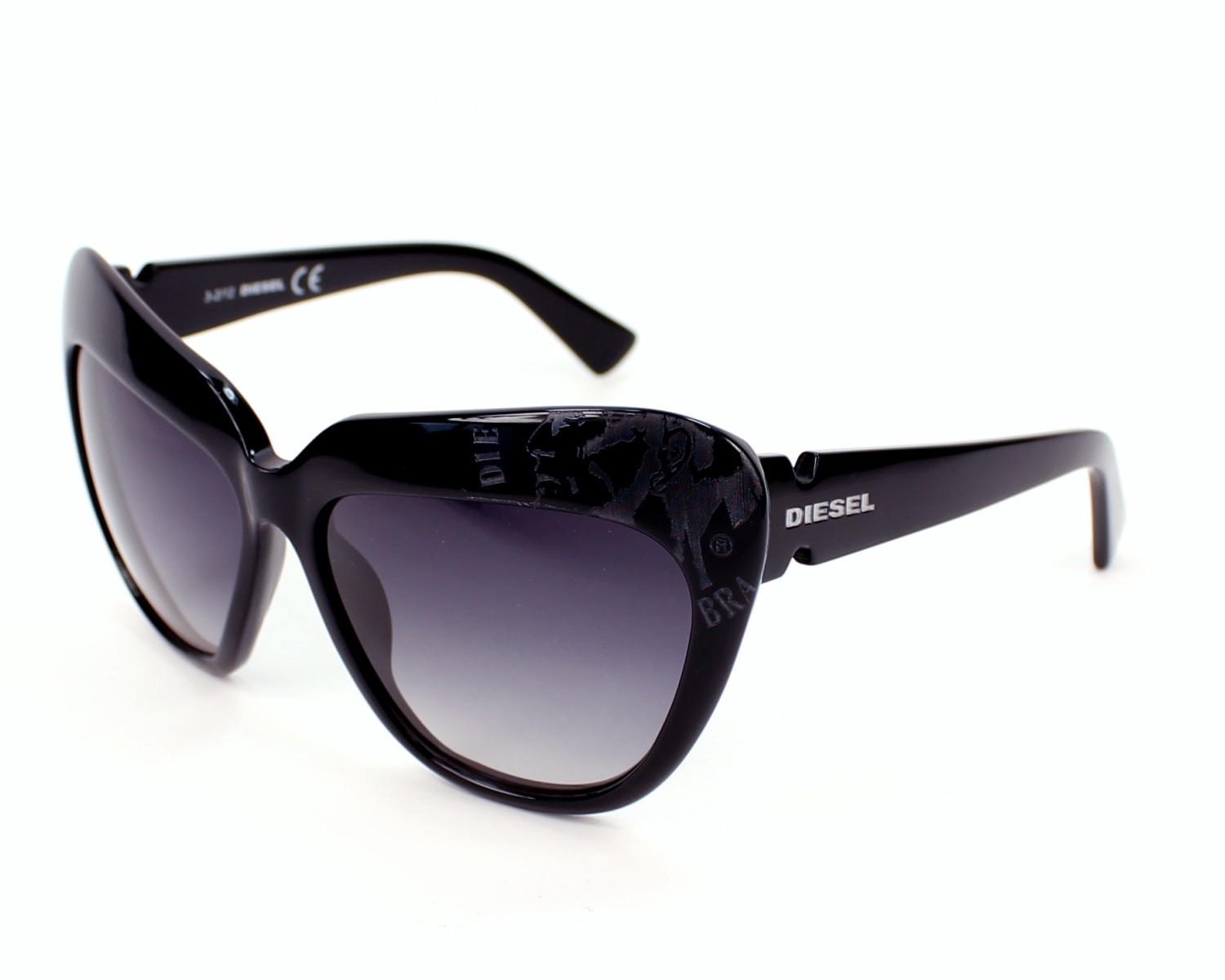 589bced57f5 Sunglasses Diesel DL-0047-S 01A - Black profile view