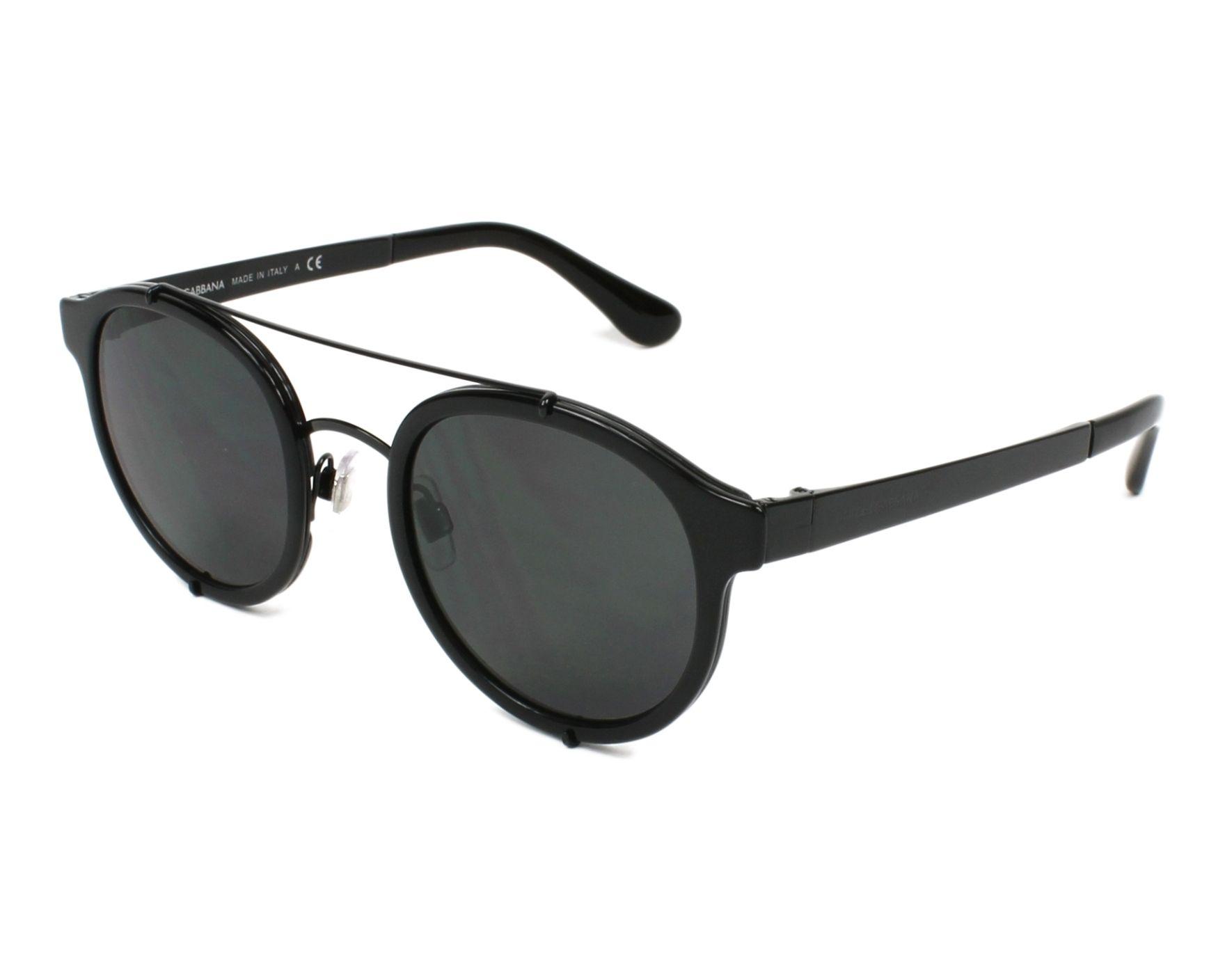 Dolce & Gabbana Sunglasses Black with Grey Lenses DG-2184 5001/87 ...