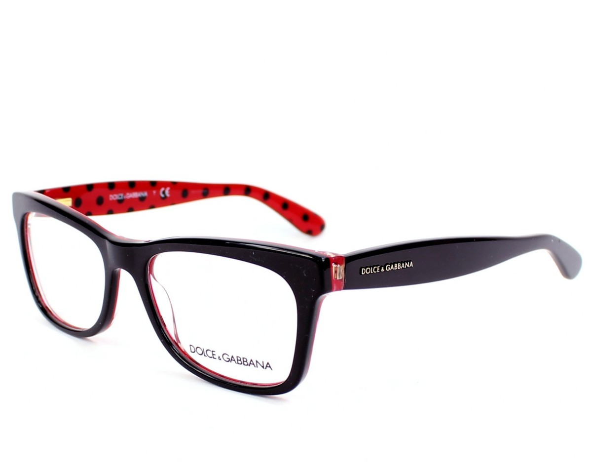 d6cb7dbac4 eyeglasses Dolce & Gabbana DG-3199 2871 - Black Red profile view