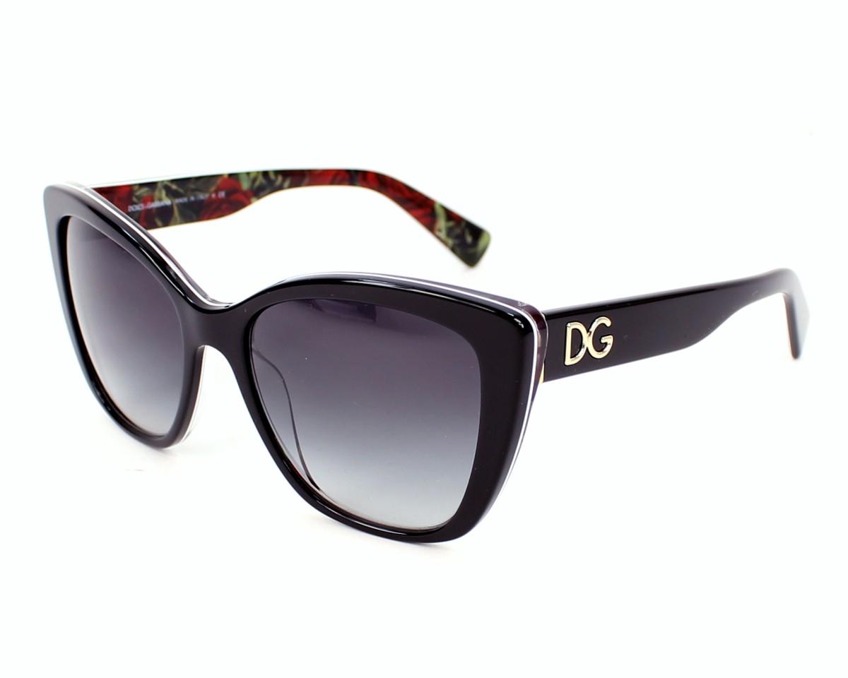 55e625fddbe thumbnail Sunglasses Dolce   Gabbana DG-4216 2940 8G - Black profile view