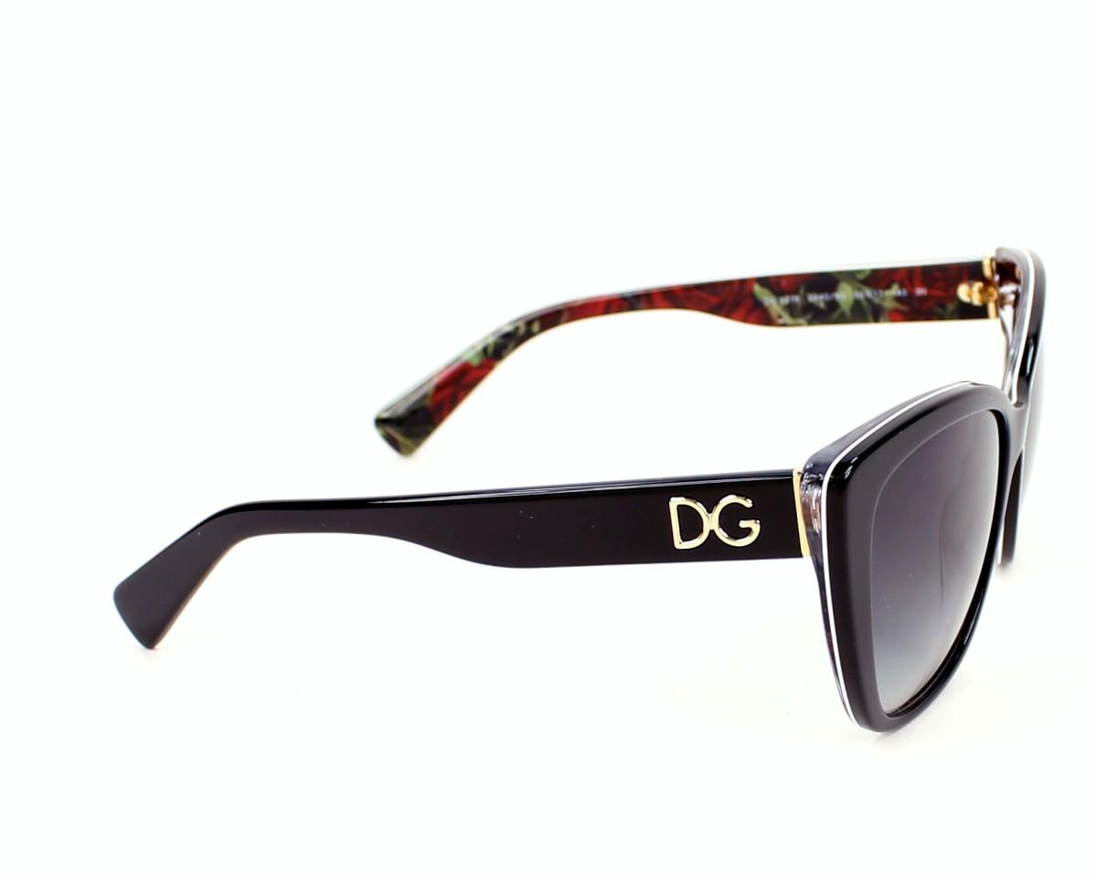 e1c65692f07 thumbnail Sunglasses Dolce   Gabbana DG-4216 2940 8G - Black side view