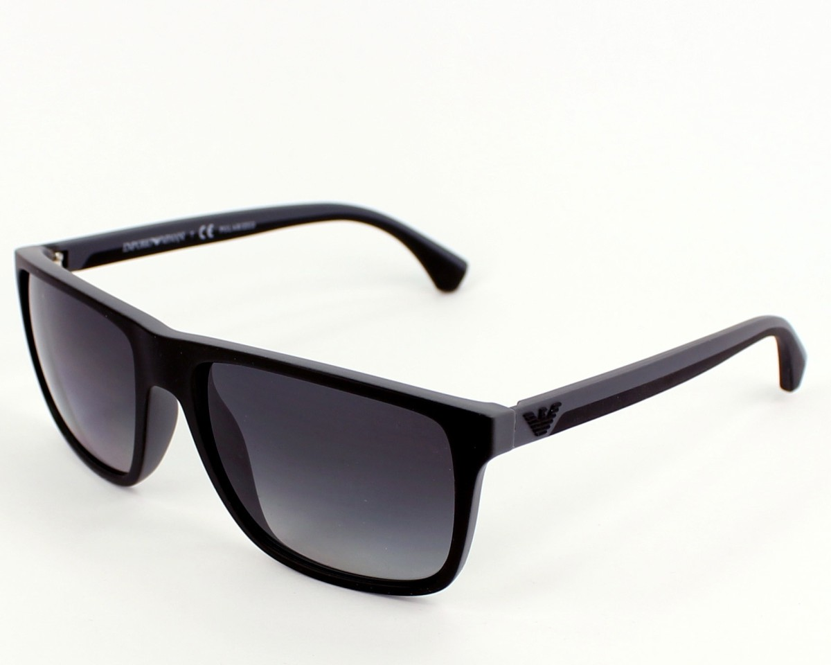 15a108af702cf Sunglasses Emporio Armani EA-4033 5229T3 56-17 Black Grey profile view