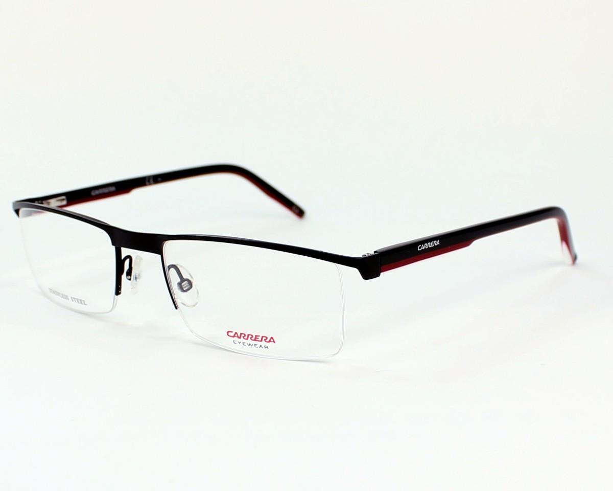 3ecb8e2bd8e263 eyeglasses Carrera CA-7579 WZI 54-19 Black Red profile view