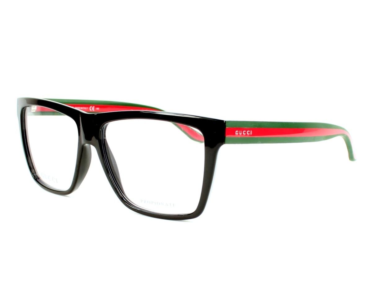 8907b5e6aa eyeglasses Gucci GG-1008 51N - Black Green profile view