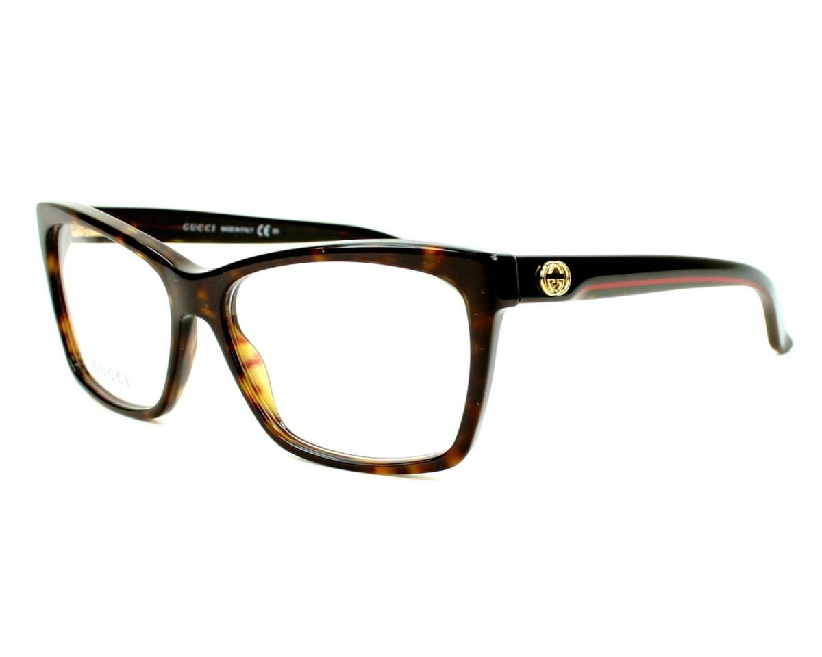 4f84dd595bd49a eyeglasses Gucci GG-3563 IPW - Black Havana profile view