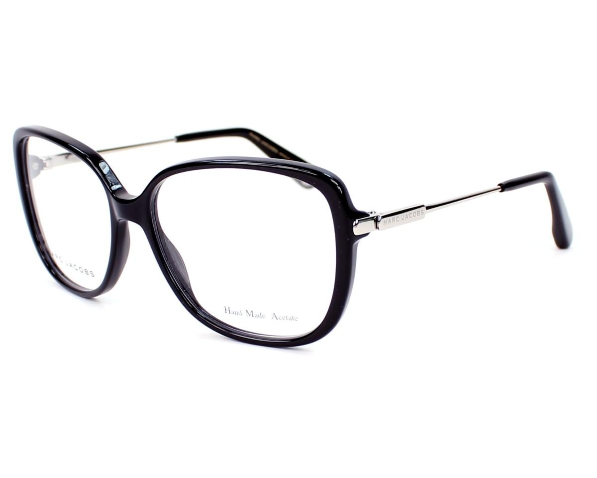 5c84d81d3f48cd eyeglasses Marc Jacobs MJ-494 CSA 55-15 Black Palladium profile view
