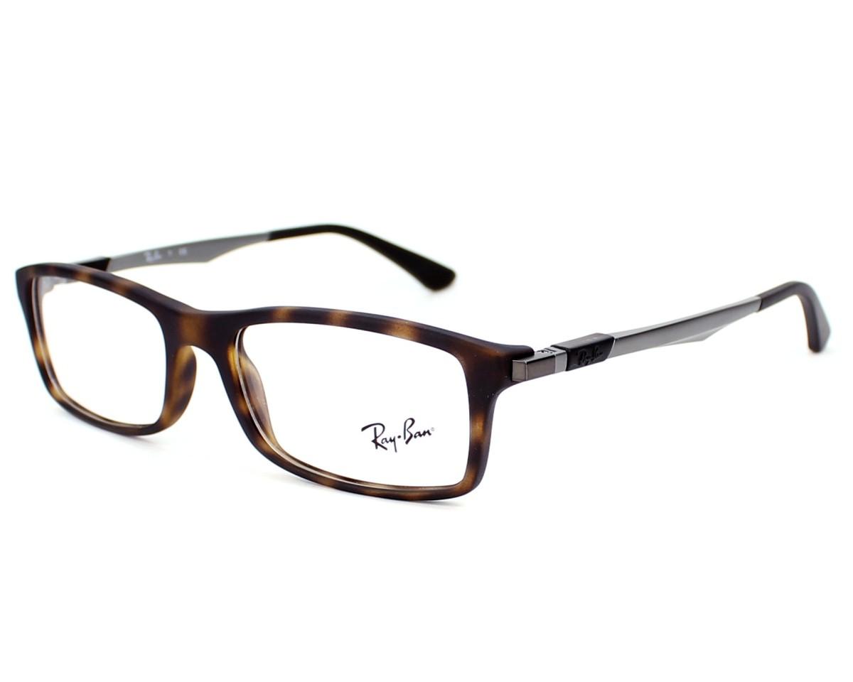 a85b737356 eyeglasses Ray-Ban RX-7017 5200 54-17 Havana Gun profile view