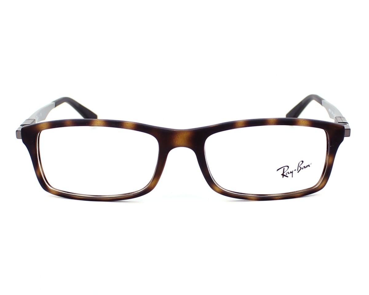 bd00c28d36 eyeglasses Ray-Ban RX-7017 5200 54-17 Havana Gun front view