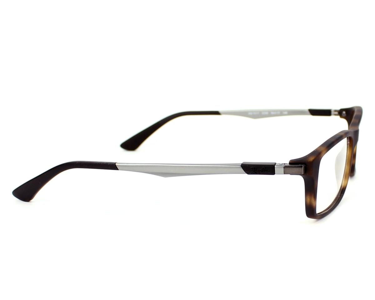 348b8ef692 eyeglasses Ray-Ban RX-7017 5200 54-17 Havana Gun side view