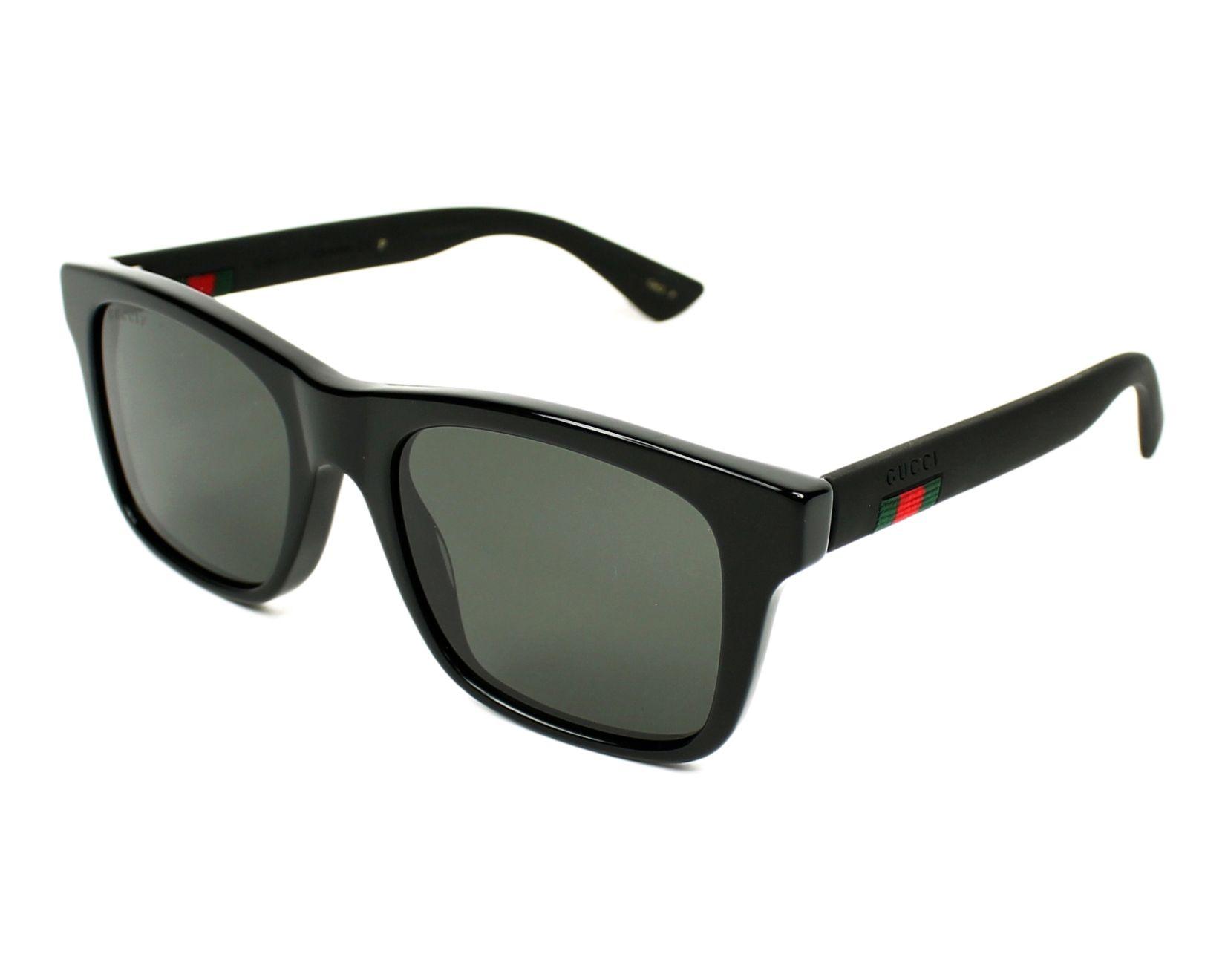 a2672842e3 Sunglasses Gucci GG-0008-S 002 53-20 Black Black profile view