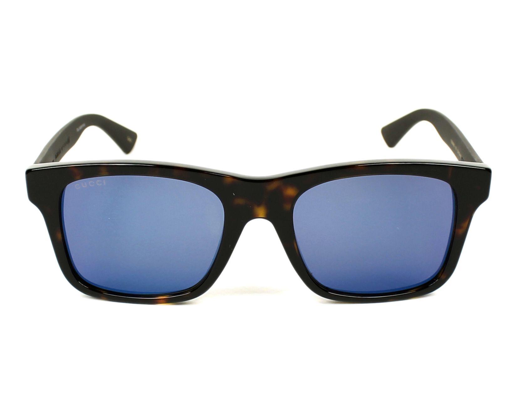 60b788d714 Sunglasses Gucci GG-0008-S 003 - Havana Brown front view