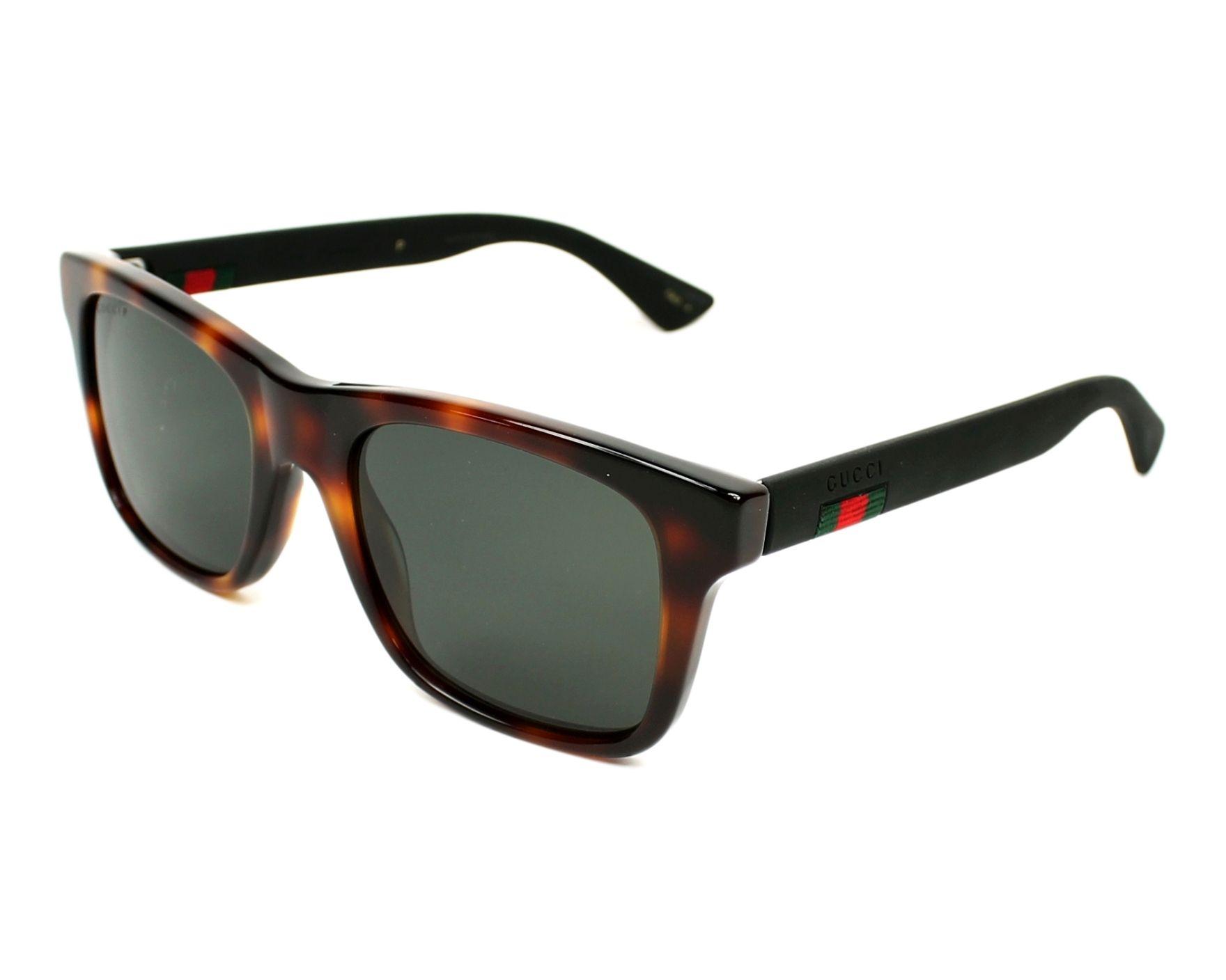 Gucci GG0008S-006 53-20 in havana/black CVbTU